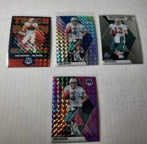 2020 Panini Mosaic Football Miami Dolphins Lot Base Card Dan Marino NFL 4 cards!