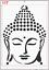 Gran Buda Zen cara Stencil Mylar A4 hoja fuerte Reutilizable Craft Arte Pared Deco