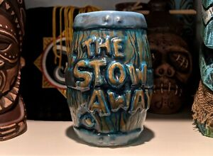 Stowaway Barrel Mug Tiki Bar Robert Jimenez Tiki Tower Hand Painted