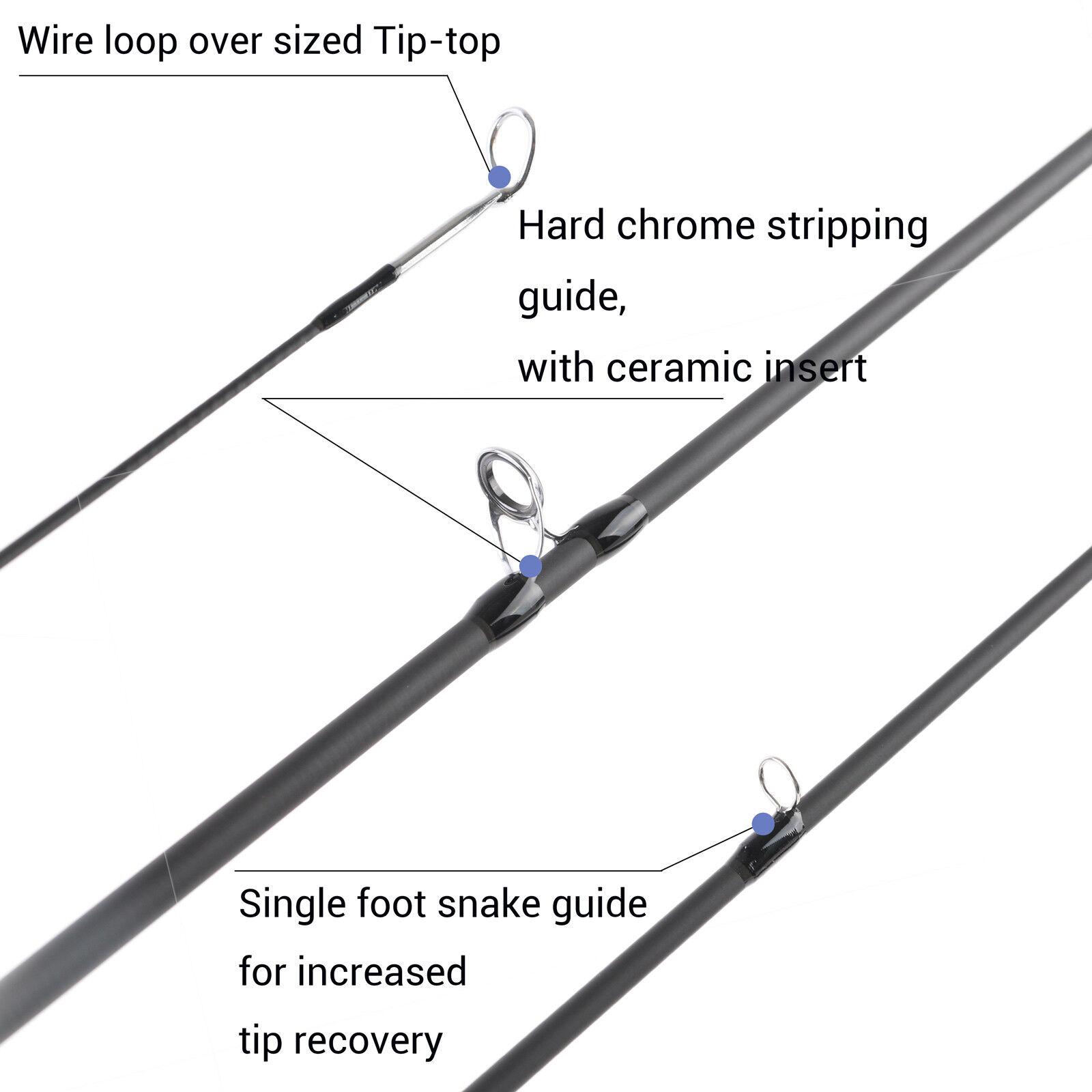 2WT 7'6'' 4Pcs Fly Fishing Fishing Fishing Rods Light Weight  Medium-Fast Graphite Fly Rod Tube fdba7a