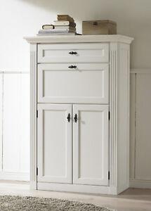 Schreibtisch weiß vintage  Sekretär Maisonette Schreibtisch Wehrsdorfer weiß vintage | eBay