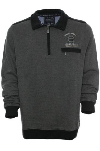 Kitaro Sweatshirt Sweat Shirt Troyer Zip Herren Baumwolle Maritime Classics