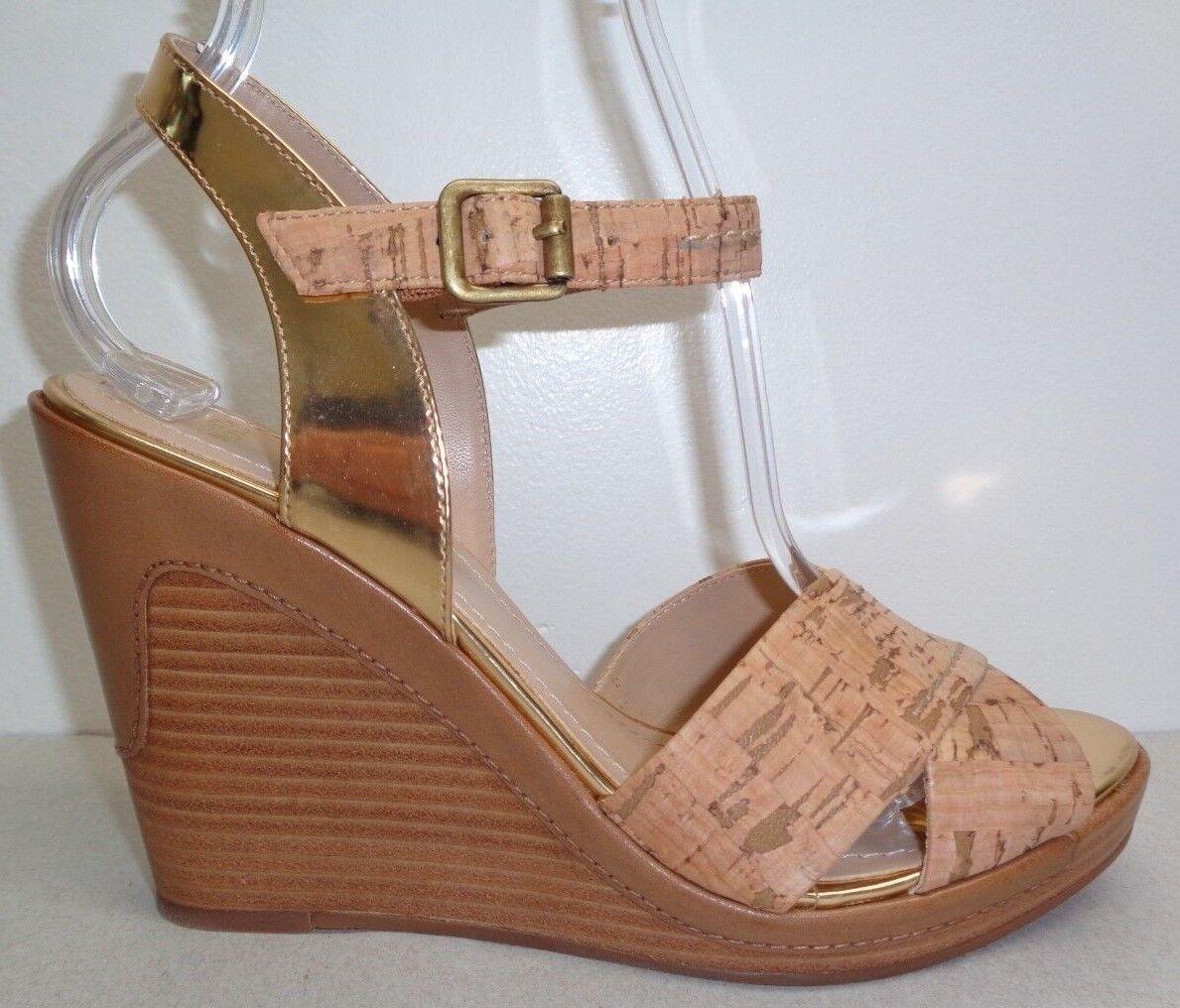 Johnston & Murphy Size Cork 10 M MAREN Gold Cork Size Leather Sandals New Womens Shoes 6968b6
