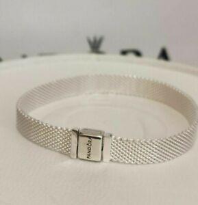 16cm 6 3 New Authentic Pandora Reflexions Silver Mesh Bracelet 597712 W Box Ebay