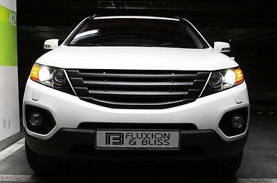 Front Hood Tuning Radiator Grill Matte Black 1p For 10 11 12 Kia Sorento R