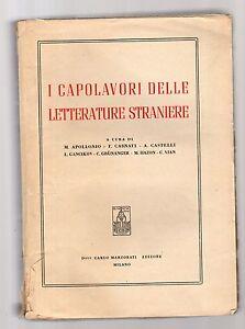 i-capolavori-delle-letterature-straniere-acura-di-m-apollonio-casnati-castelli