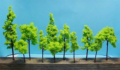 Multi Gauge Use-Model Scenery-Assorted Light Green Trees-5 Sizes-11 Pieces Total