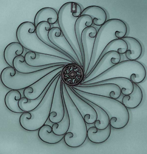Indoor Outdoor Wall Decor Metal Scroll Living Sun Room Fence Front
