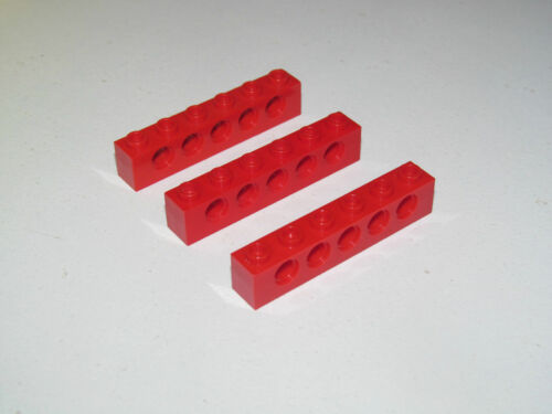 Lego ® Technic Lot x3 Barre Perforée Trou 1x6 Brick Beam Hole Choose Color 3894