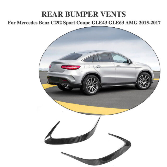 Carbon Rear Bumper Scoop Vents Fins For Benz C292 Sport Coupe GLE63 GLE43 15-17