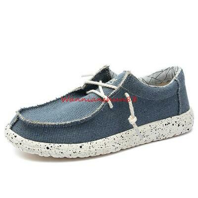 chic men's canvas lace up loafers comfortable driving