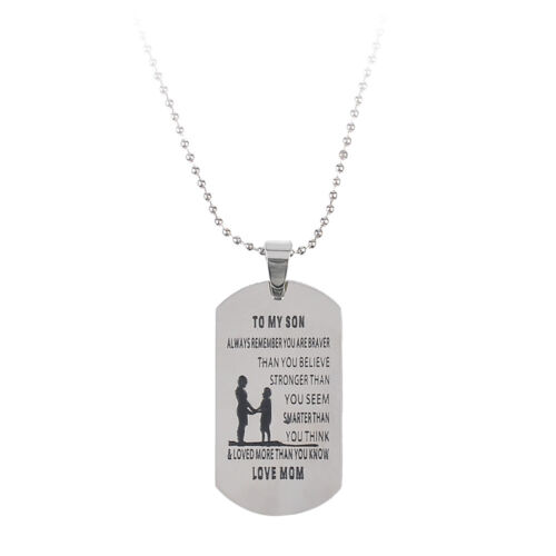 Silver Necklace Vintage Family Necklaces Pendants Fashion Jewelry Grandpa Daddy