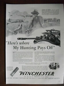 VTG-1942-Orig-Magazine-Ad-Winchester-Bullets-Here-039-s-Where-My-Hunting-Pays-Off