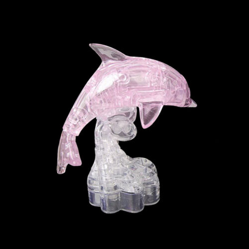3D Crystal Dolphin Puzzle Heart Building Blocks Toy Learning Education Toy Pop