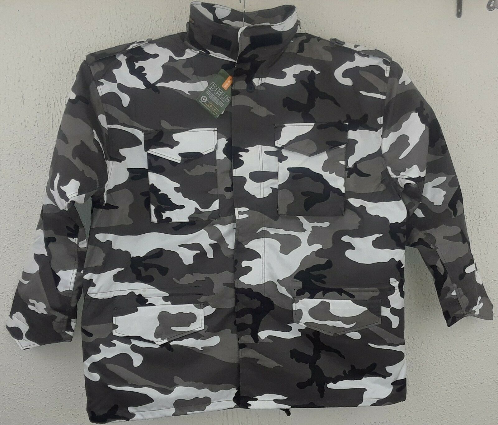 NWT MEN'S DELF U.S. ARMY MILITARY FIELD COAT CITY CAMO SIZE 5XL