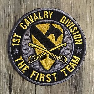 Military Issue Acu Army 1st Calvary Division Patch Hook Backing First Cav Div.