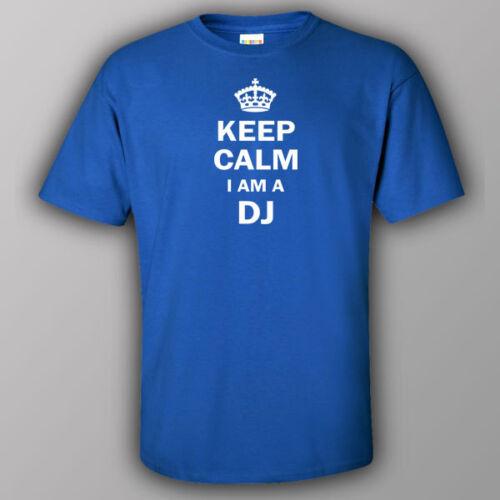 Funny T-shirt KEEP CALM I AM A DJ night club music party