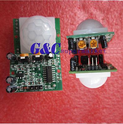 2PCS HC-SR501  Pyroelectric Infrared  PIR Motion Sensor Detector Module M17