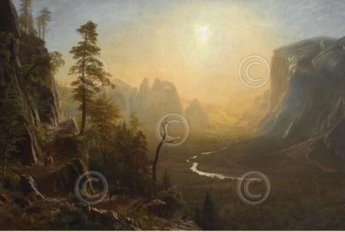 Yosemite Valley Glacier Point Trail ca Albert Bierstadt Art Print 19x13 1873
