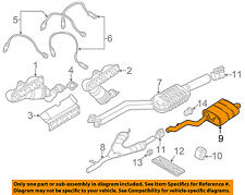 99 03 bmw e39 528i 525i rear muffler oem 18107500905  e39 528i exhaust diagram #15