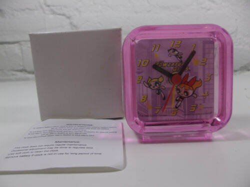 Rare Vintage Retro Powerpuff Girls travel alarm Clock NEW Premium