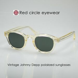 83f9cb256f4 Image is loading Retro-Vintage-polarized-sunglasses-men-Johnny-Depp-sunglass -
