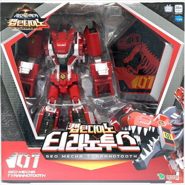 Geo Mecha Captain Captain Captain Dino Tyrannotooth Transforming Action Figure Robot Anime_EU 56c8ed