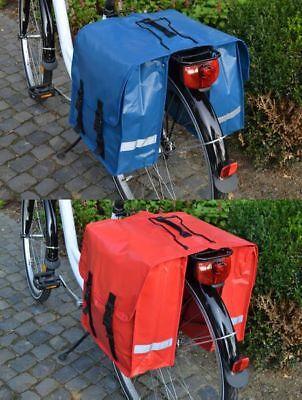 Tarpaulin Doppeltasche Fahrradtasche Gepäckträger Tasche LKW-Plane 24 Liter