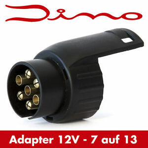 dino anh nger kurz adapter stecker kurzadapter 7 auf 13 polig steckdose ebay. Black Bedroom Furniture Sets. Home Design Ideas