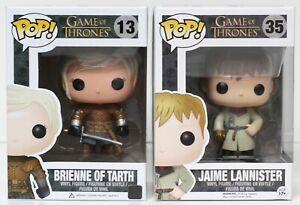Game Of Thrones de Funko Pop Jaime Gold à la main # 35 & Brienne # 13 -voir Détails