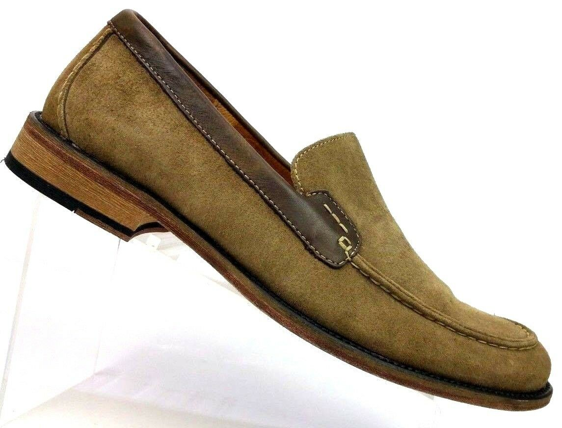 Ruhne Brown Suede Leather Loafer Moc shoes Men's Size 10.5 MW