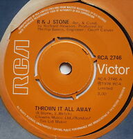 "R & J STONE - Thrown It All Away - Excellent Condition 7"" Single RCA 2746"