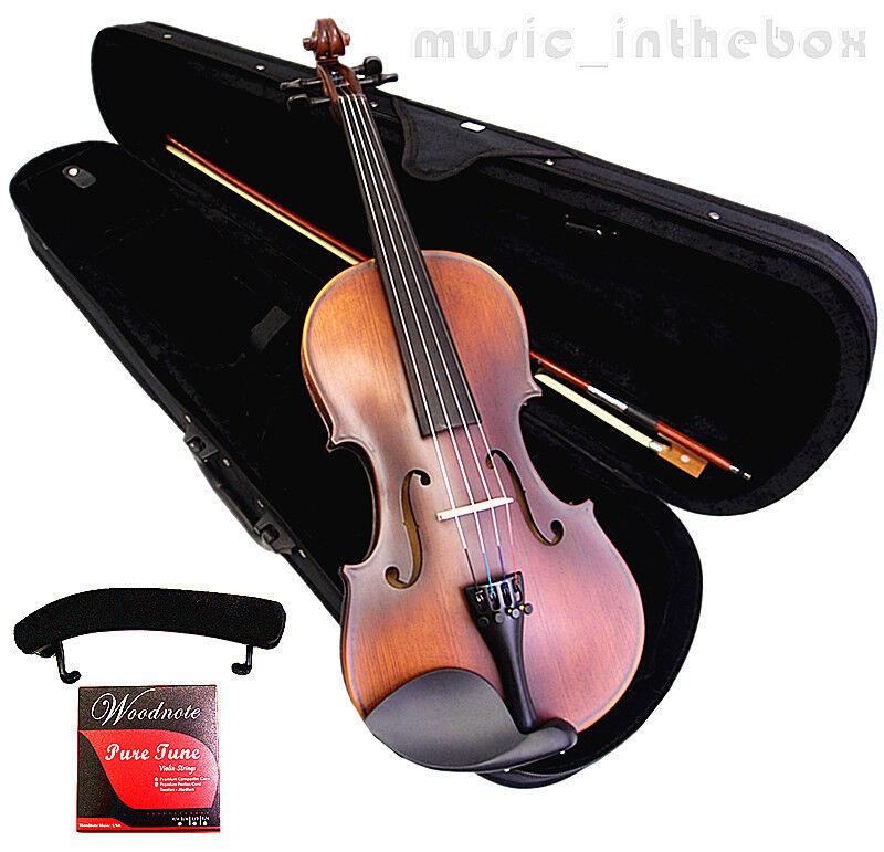 Student Model - 4/4 Antique Style Violin +Bow+Rosin+Case+Should Rest+String set