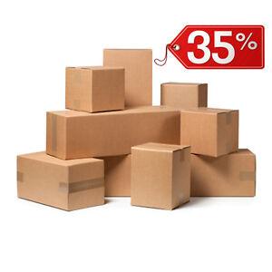 40-Stuecke-Box-Karton-Verpackung-Versand-25x25x25cm-Box-Havanna