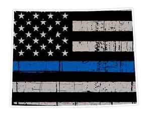 Wyoming State U50 Cop Thin Blue Line Vinyl Yeti Tumbler Decal