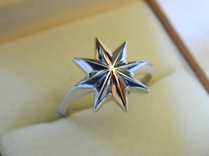 Clogau-Silver-amp-Welsh-Gold-Seren-Ring-size-L