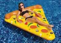 1 Slice Inflatable Chair Lilo Lounger Pizza Float Air Bed F. Beach Pool Party