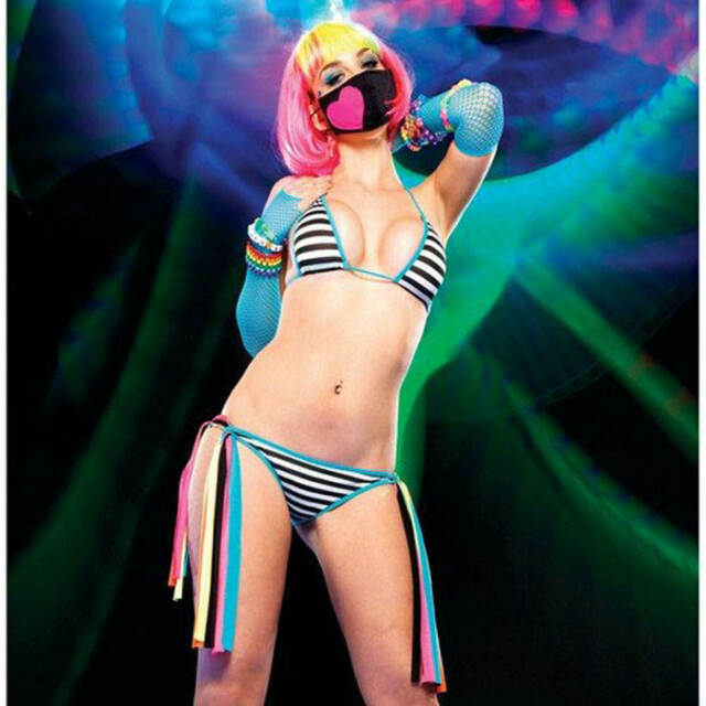 Leg Avenue Clubwear Dancerwear Striped Bikini Set