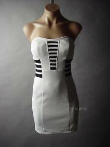 sale white cage black mesh strapless bustier cocktail