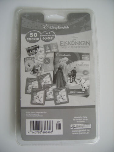 1 specialsticker Frozen-English is Fun blister con 10 bolsas de Panini