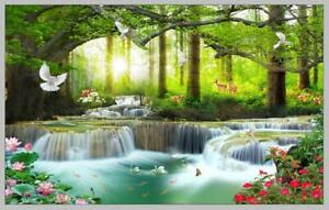 Waterfall Landscape Picture Wall Art HD Print Painting Canvas Living Room Decor