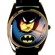 Fossil Batman New Warner Bros Store Collection Mans Leather Band Watch Only $129
