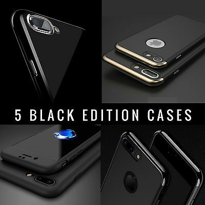 brand new d8925 ca47b JET BLACK Case for Apple iPhone 7 6 6s Plus 5c SE 5 5S 4 4S Gel Silicone  Cover | eBay