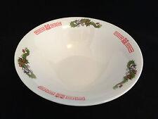 "Authentic Japanese 7.8"" 20cm ceramic ramen bowl, dragons, made in Japan (B96)"