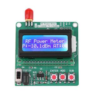 LCD RF Power Meter  -75~16 dBm Range 1-600MHz Radio Frequency Attenuation Value