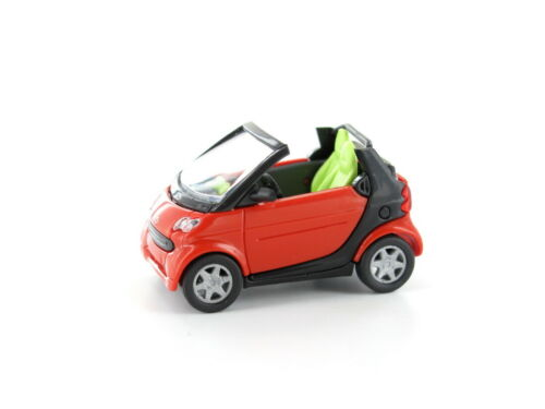 Busch 48970-1-3 H0 PKW Smart Fortwo Cabrio rot