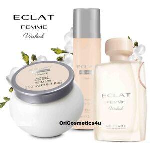 Oriflame Eclat Femme Weekend Eau De Toilette Body Cream Body
