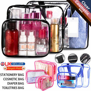 eaa1a99698 Set of 3 Pcs Cosmetic Makeup Toiletry Clear PVC Travel Wash Bag ...