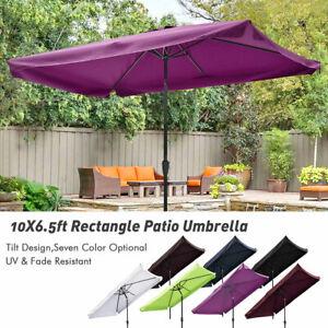 10x6 5 Outdoor Patio Umbrella With