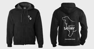 Activewear Dogs Gordon Setter Dog Full Zipped Dog Breed Hoodie Exclusive Dogeria Design,